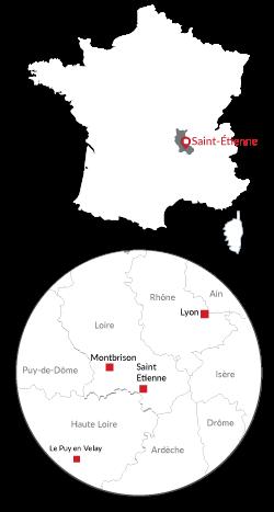 Présent en Rhône Alpes et sur toute la france
